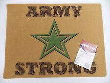 """Door Welcome Mat """"Army Strong"""" Indoor outdoor 18"""" x 24"""" Mohawk New"""