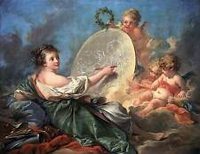 Allegory of Painting by Francois Boucher Fine Art Canvas Print