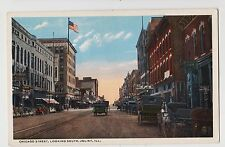 Joliet,Il.Chicago Street Looking South,Horse Drawn Wagons,c.1918-30s