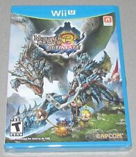 Monster Hunter 3 Ultimate for Nintendo Wii U Brand New! Factory Sealed!