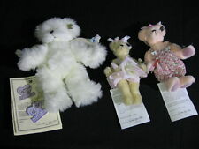 Lot of 3 Annette Funicello Bears Angela,  Rosey Petals, Lolli Limited Edition