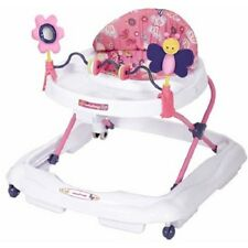 Baby Trend Walker, Emily 3 position height X-wide base for support, Pink/White