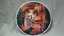 """NORMAN ROCKWELL 1979 """"SOMEBODY'S UP THERE"""" CHRISTMAS PLATE Free Shipping!!"""