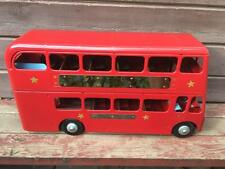 """Vintage Pressed Steel L.B.TRIANG Red Double Decker Routemaster Bus 23"""" Restored"""