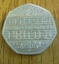Very Rare Benjamin Britten 100th Anniversary Collector's 50 pence coin 50p