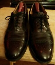 Mens JOHNSTON AND MURPHY burgundy cap toe shoes sz 10.5
