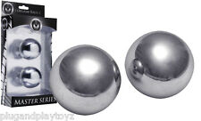 "2"" Weighted Extreme Steel Orgasm Balls Huge Ben Wa Kegel Vagina Tighten Exercise"