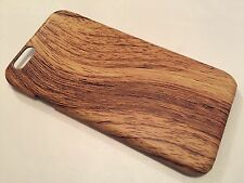 Apple Iphone 6 6S cover case protective hard back wood grain wooden oak brown