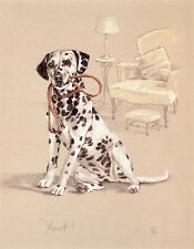 DALMATIAN BLACK & WHITE SPOTTED COACH DOG FINE ART LIMITED EDITION PRINT
