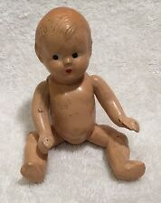 ANTIQUE  JOINTED `COMPOSITION BABY DOLL 5""