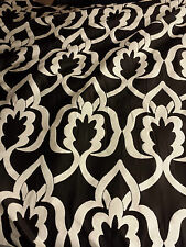 Monochrome Flocked Velvet Upholstery Fabric 1.4m Wide Curtain Black & White