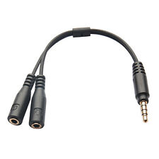 Hot 3.5mm Earphone Headphone Male to 2 Female Y Splitter Audio Mic Adapter Cable