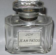 "Vintage Jean Patou Joy Perfume Bottle 1 OZ Baccarat - Open - Empty - 2 1/4"" Ht."