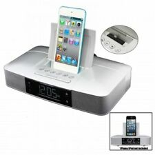 Capello Stereo FM Clock Alarm Radio w/Lightning Dock for iPhone 5/5S and 6