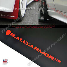 RALLY ARMOR UR BLACK MUD FLAPS 2007-2015 MITSUBISHI LANCER DE ES w/ RED LOGO