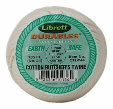 Cotton Butcher's Cooking Twine String 185 Feet Kitchen Meat Chef Poultry #249