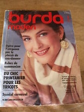 MAGAZINE BURDA MODEN SPECIAL  CARNAVAL  ROBES DE COMMUNION   01/1984