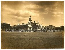 India vintage photo of an unidentified palace & uniformed cavalry 19cm x 24.5cm