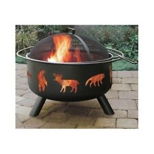 Outdoor Fire Pit Wood Burning Fireplace Camping Firepit Backyard Patio Heater