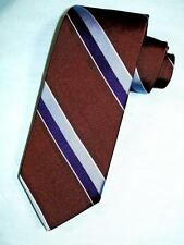 NEW BROOKS BROTHERS SADDLE-BROWN NAVY CORNFLOWER STRIPE MAKERS SILK NECK TIE