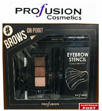 PROFUSION 'BROWS ON POINT' EyeBrow Powder Stencils Gel Brush Pencil Tweezers