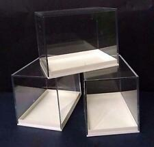 100  LARGE PERSPEX DISPLAY SPECIMEN BOX  FOSSILS, METEORITES, DIE CASTS,COINS
