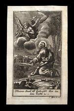 santino incisione 1700 GESU' NELL'ORTO DEL GETSEMANI