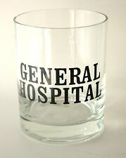 General Hospital Soap Opera Clear Glass Tumbler Cup ABC Daytime TV Show