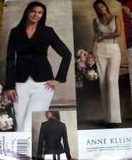 NEW JACKET & PANTS VOGUE DESIGNER ANNE KLEIN Sewing Pattern 14-16-18 UNCUT