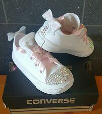Customised Bling Diamond Crystal Converse Romany Infant