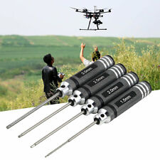 4PCS Hex Screw Driver Tool Kit For RC Helicopter Plane Transmitter Car Black CR