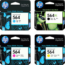 Genuine 2016-2018 HP564 XL Bk 564 Cyan Magenta Yellow Ink In BOX 4622 C410 C510