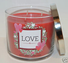NEW BATH & BODY WORKS LOVE SCENTED CANDLE 3 WICK 14.5OZ LARGE RED CHERRY BLOSSOM