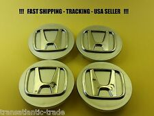 4 NEW Silver Center Caps Wheel Set for Honda CRV ELEMENT ODYSSEY ACCORD PILOT +