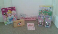 Filles jouet princesse plaque crochets tatty teddy chiffres livre dominos collier bundle