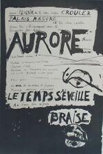 """""""AURORE LE TEMPS S'EVEILLE / MAI 68"""" Affiche entoilée Bernard DUFOUR (TCHOU Ed.)"""