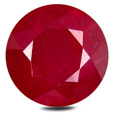3.19 ct AAA Impressive Round Shape (8 x 8 mm) Red Ruby Natural Gemstone