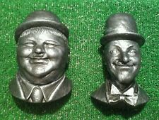 Laurel and  Hardy .figure .statue. wall plaque