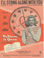I'll String Along With You - Doris Day - 1949 Sheet Music
