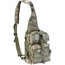 Outdoor Camo Army Sling Backpack, Men Camp Tactical Hiking Outdoor Green Bookbag