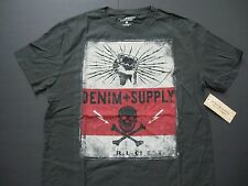 DENIM & SUPPLY RALPH LAUREN Men's Skull and Lightning-Bolt Print T-Shirt S