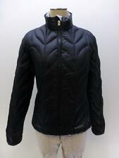 EDDIE BAUER 700 fill power black Goose Down Coat jacket quilted womens sz XS