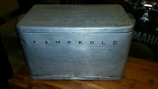 Large Vintage KampKold Aluminum Cooler Ice Chest Old Style Before Foam Insulate