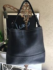 Coach Black Pebbled Leather Shoulder Hobo Tote Handbag Purse f11662 *Authentic*