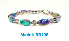 "7.5"" High power magnetic multi color hematite beads bracelet for natural healing"