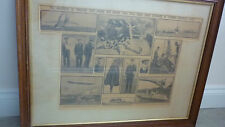 WW1 commemorative picture/broadsheet. Mariners of England framed 70 x55cm