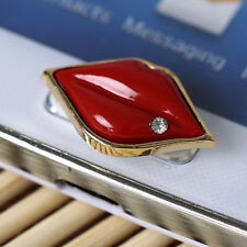 B3 Home Button Sticker - Red Lip for Samsung Galaxy S3 S4 S5 Note 2 Note 3