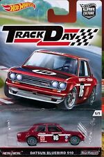 HOTWHEELS NEW TRACK DAY DATSUN BLUEBIRD 510 WITH REAL RIDER RUBBER TYRES~