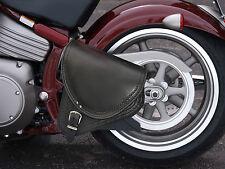 Black Top Leather Swingarm Single Pannier Saddle Bag HARLEY- DAVIDSON SOFTAIL