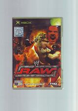 WWE RAW 1 - XBOX WWF WRESTLING GAME / 360 COMPATIBLE - ORIGINAL & COMPLETE - VGC
